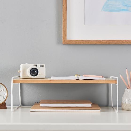 Wood and Metal Desk Riser