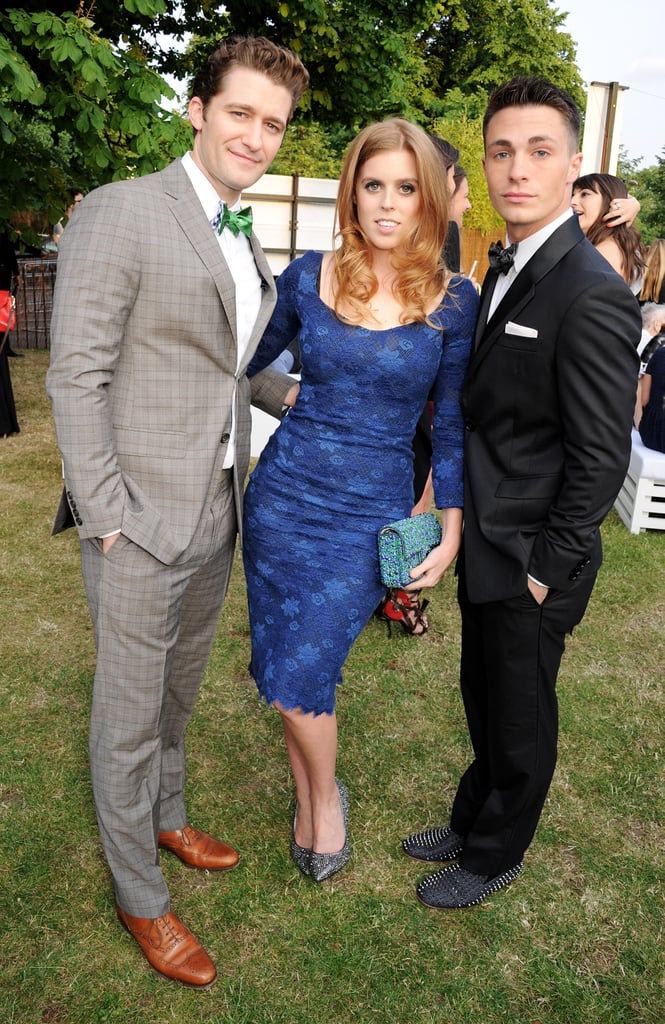 Matthew Morrison and MTV star Colton Haynes posed with Princess Beatrice of York.