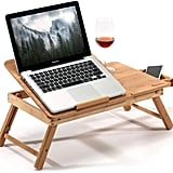 HANKEY Bamboo Large Foldable Laptop Stand Desk