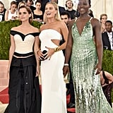 Emma Watson, Margot Robbie, and Lupita Nyong'o — 2016