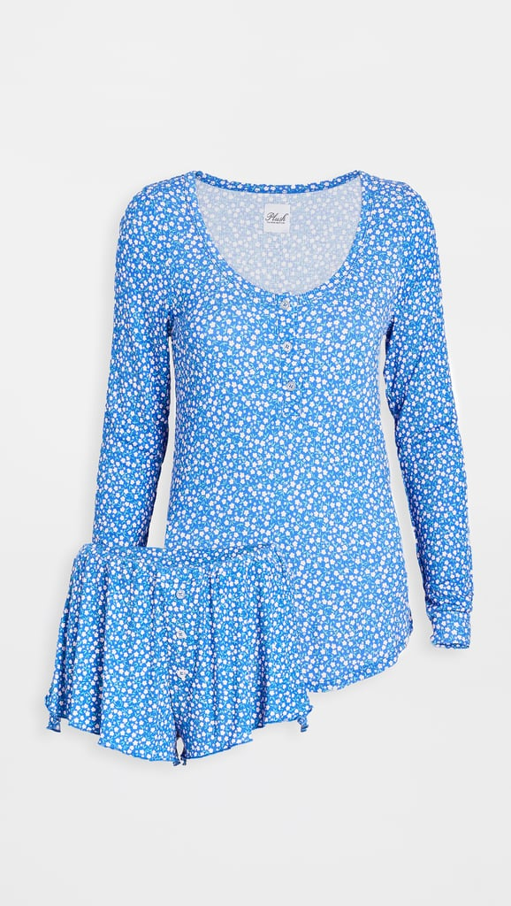 Plush Ultra Soft Floral PJ + Scrunchie Set