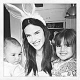 Alessandra Ambrosio got in the Easter spirit with her children. Source: Instagram user alecambrosio