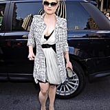Kelly Osbourne stepped out in black and white.