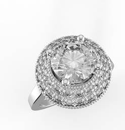 PS: How should we be caring for an engagement ring after purchases?  CM: Have your jewellery checked by a professional jeweller at least once a year. Professional jewellers can check for loose prongs, signs of wear and much more. It's far better to have a loose prong fixed than have a diamond fall out! Use a commercial liquid cleaner occasionally to brighten your ring. Also, separate your jewellery to prevent scratching. We recommend using a soft jewellery box with dividers, or keeping the jewellery in the boxes they came in.  Ring, from $10000, Cassandra Mamone Jewellery