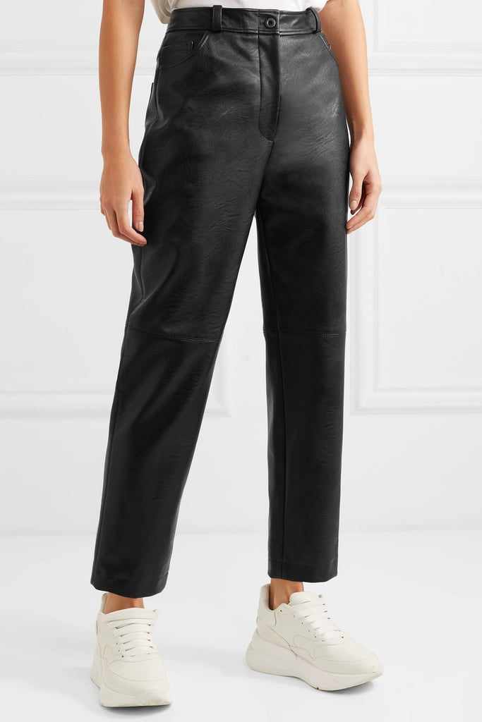 2824c7306f23 Stella McCartney Faux Leather Straight-Leg Pants