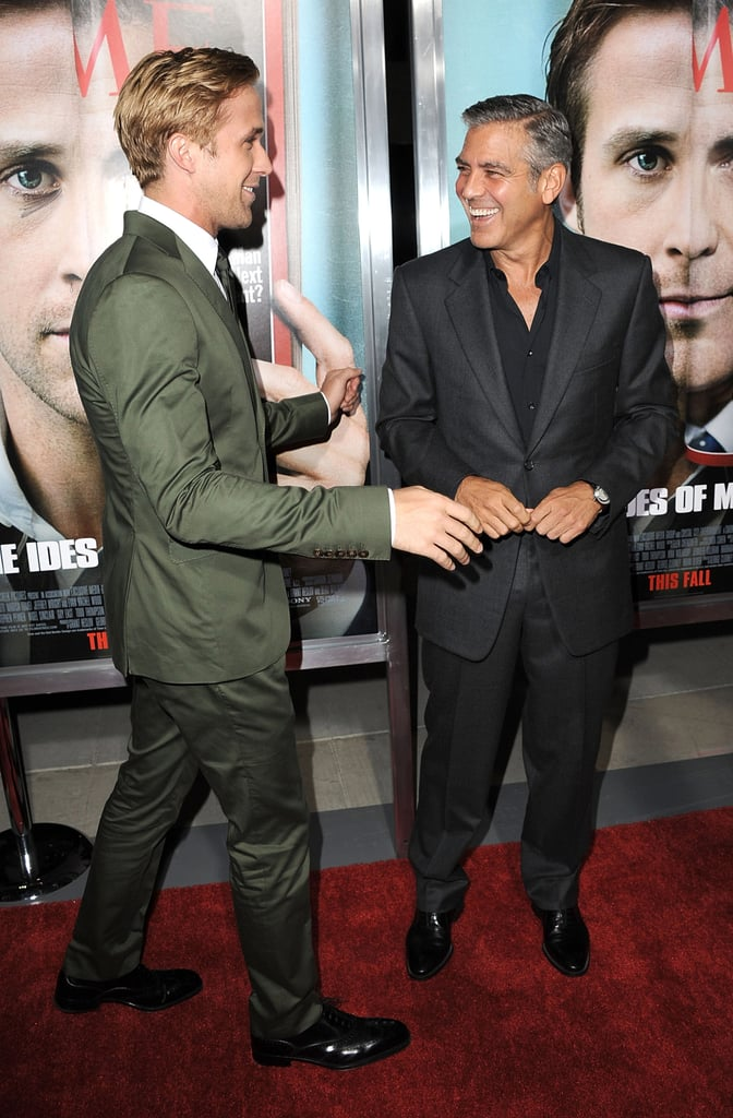 Ryan Gosling went in for a hug from George.