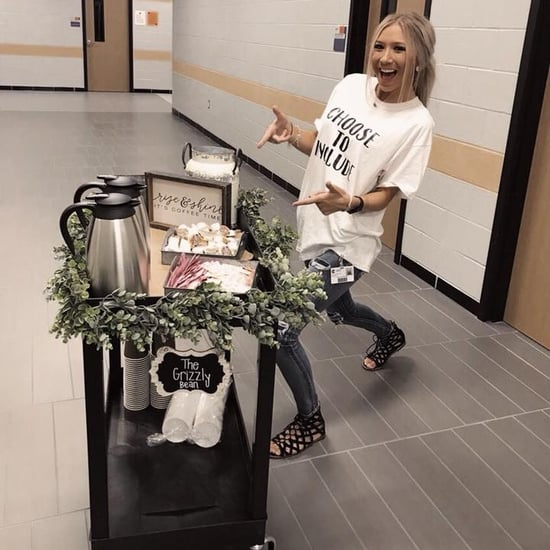Special Needs Teacher's Coffee Cart Idea