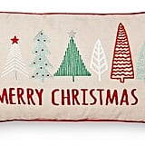 Merry Christmas Tree Oblong Pillow ($20)