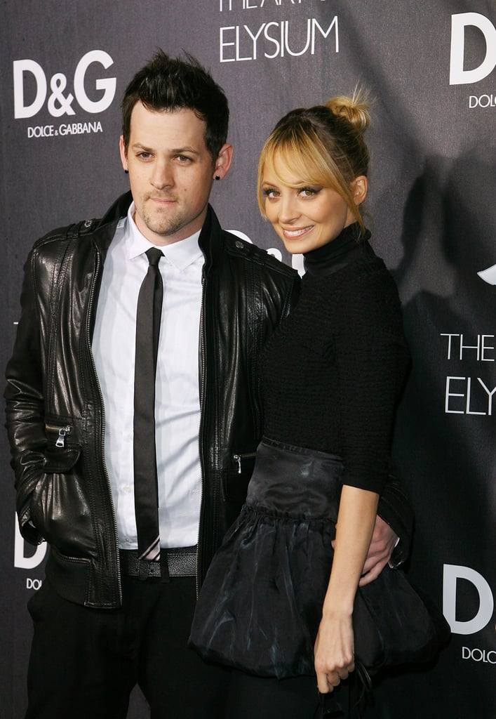 Nicole Richie and Joel Madden coordinated for an Art of Elysium party in LA in December 2008.