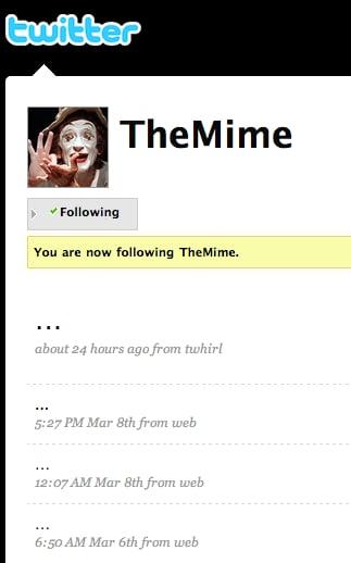 Even Mimes Do Twitter!