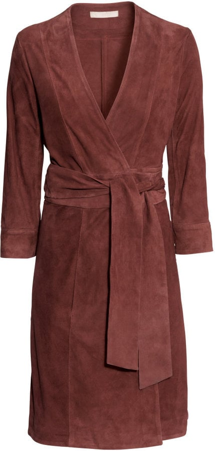 H&M Wraparound Suede Dress