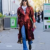 With a dress and t-shirt layered right on top