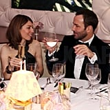 Sofia Coppola and Tom Ford chatted at their table.