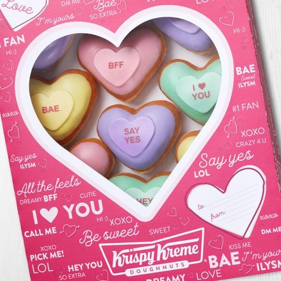Krispy Kreme's Conversation Heart Valentine's Day Doughnuts