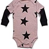 Nununu Star Onesie in Powder Pink ($42)