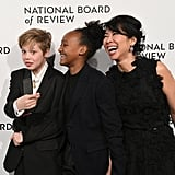 Shiloh and Zahara Jolie-Pitt, and Loung Ung at the National Board of Review Awards Gala