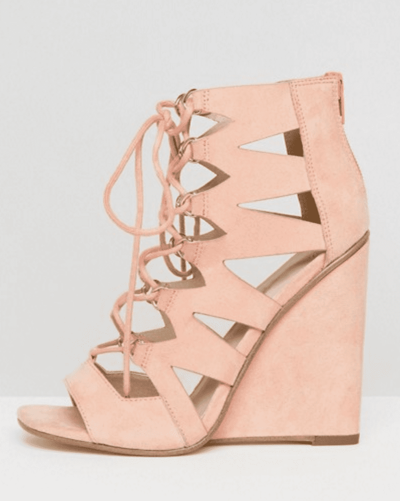 49a13326a5b ASOS Harlesden Lace Up Wedges ( 43