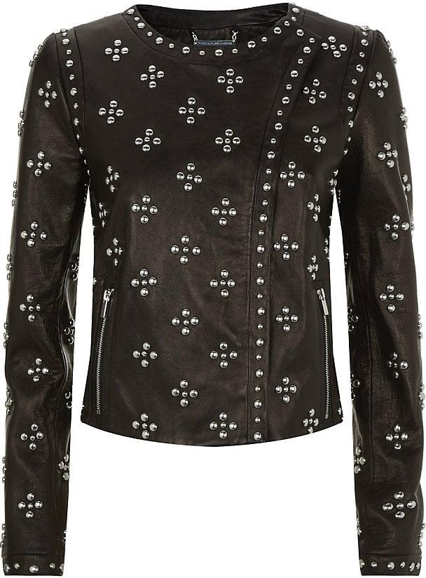 Diane Von Furstenberg Cocoa Leather Jacket (£1,175)