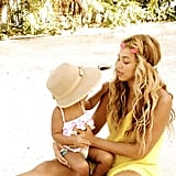 Beyoncé held onto Blue Ivy during a vacation in July. Source: Tumblr user beyonce