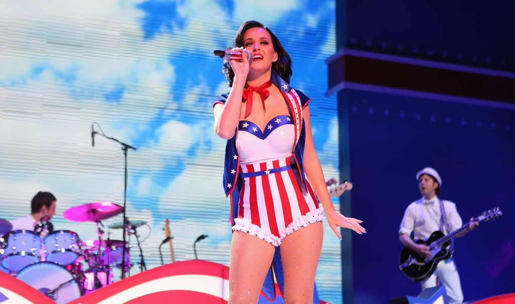 Katy Perry got patriotic for a children's inaugural concert at the Washington DC Convention Center in January 2013.