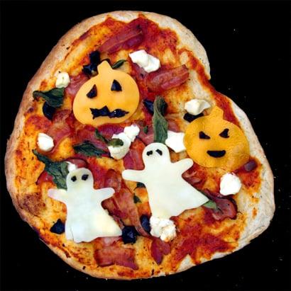 Easy Halloween Pizza | Halloween Recipes For Kids | POPSUGAR Moms ...
