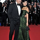 Alec Baldin and his fiancée Hilaria Thomas posed at the Cannes premiere of Killing Them Softly.