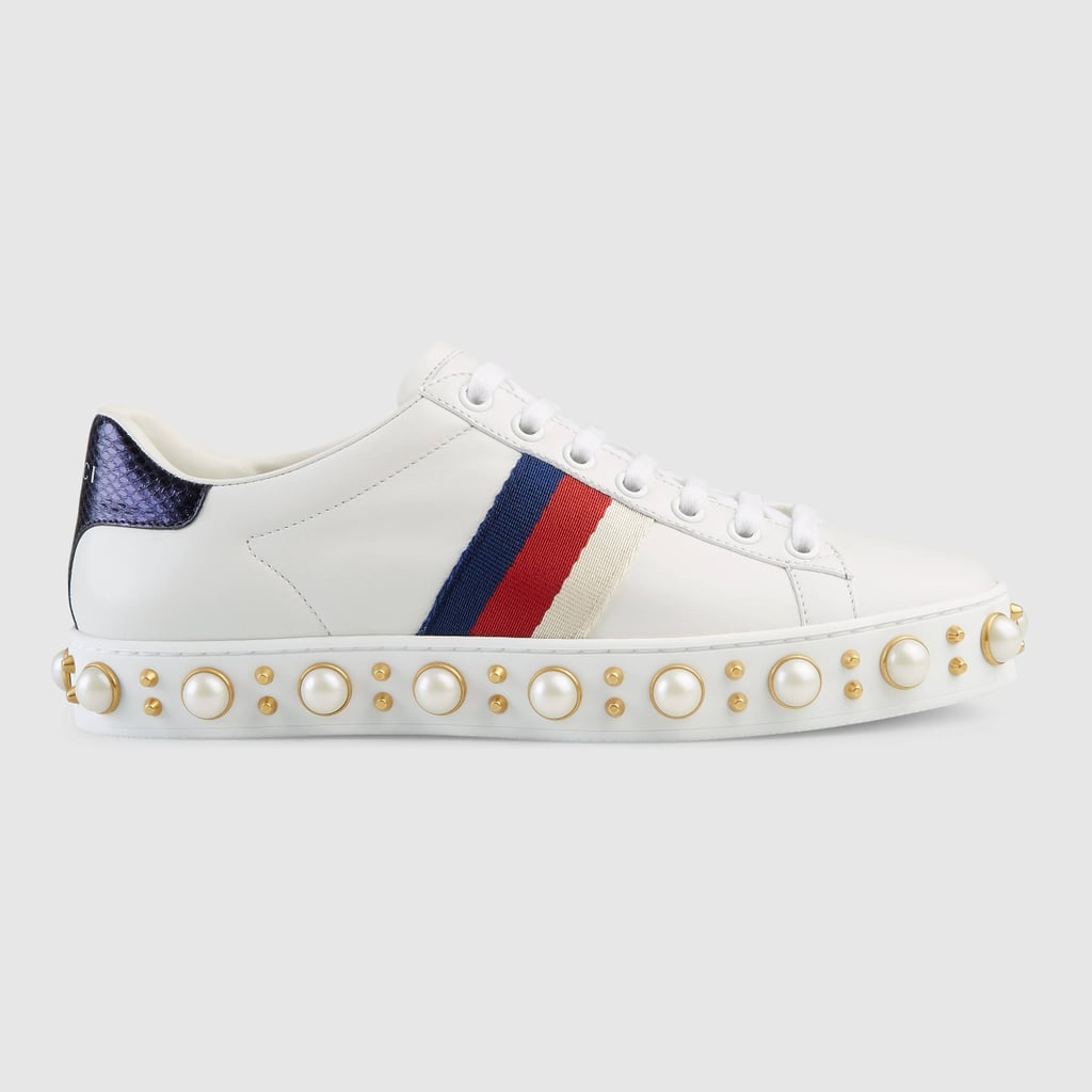 e3232eaee88 Gucci Faux Pearl Low-Top Sneakers