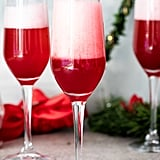 Ginger Cranberry Poinsettia Cocktails