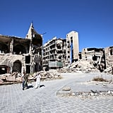 What remains of the Aleppo's historic city center, currently controlled by government forces.