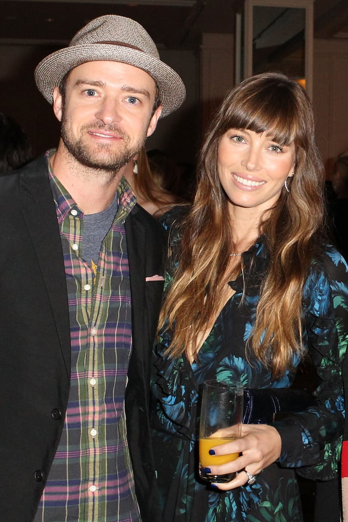 Justin Timberlake and his now-wife, Jessica Biel, were all smiles at Variety's Power of Women event in October 2012.