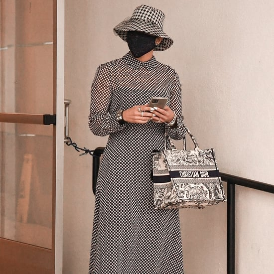 See Jennifer Lopez's Polka-Dot Dress and Houndstooth Net Hat