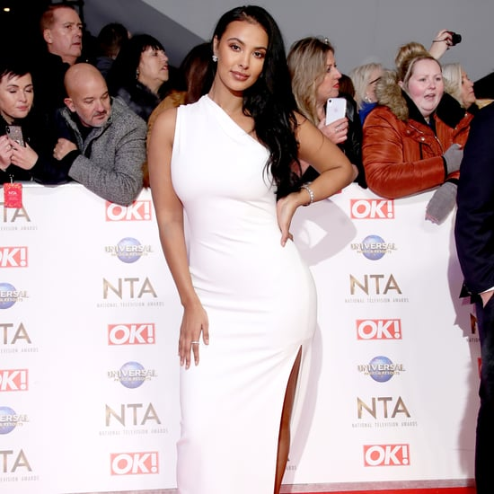 Maya Jama's White Solace London Gown at the NTA 2020