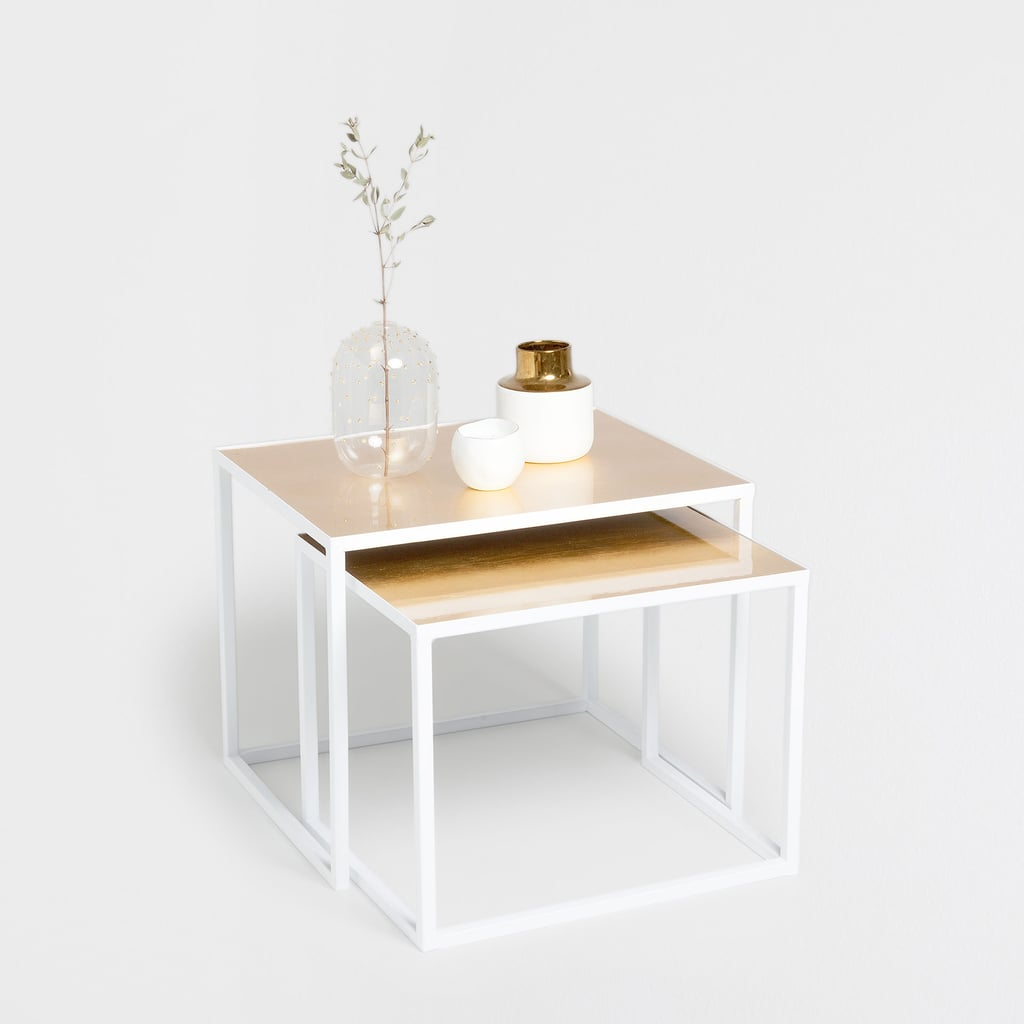 Nest of white and gold tables 169 zara home fall for Table zara home