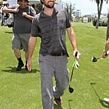 Luke Wilson sported a scruffy beard at the Miami Beach Golf Club in June 2010.