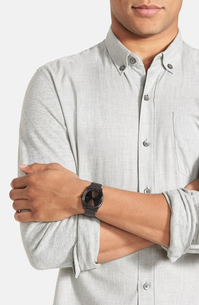 Nixon 'The Time Teller' Stainless Steel Bracelet Watch