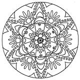 Get the coloring page: Mandala