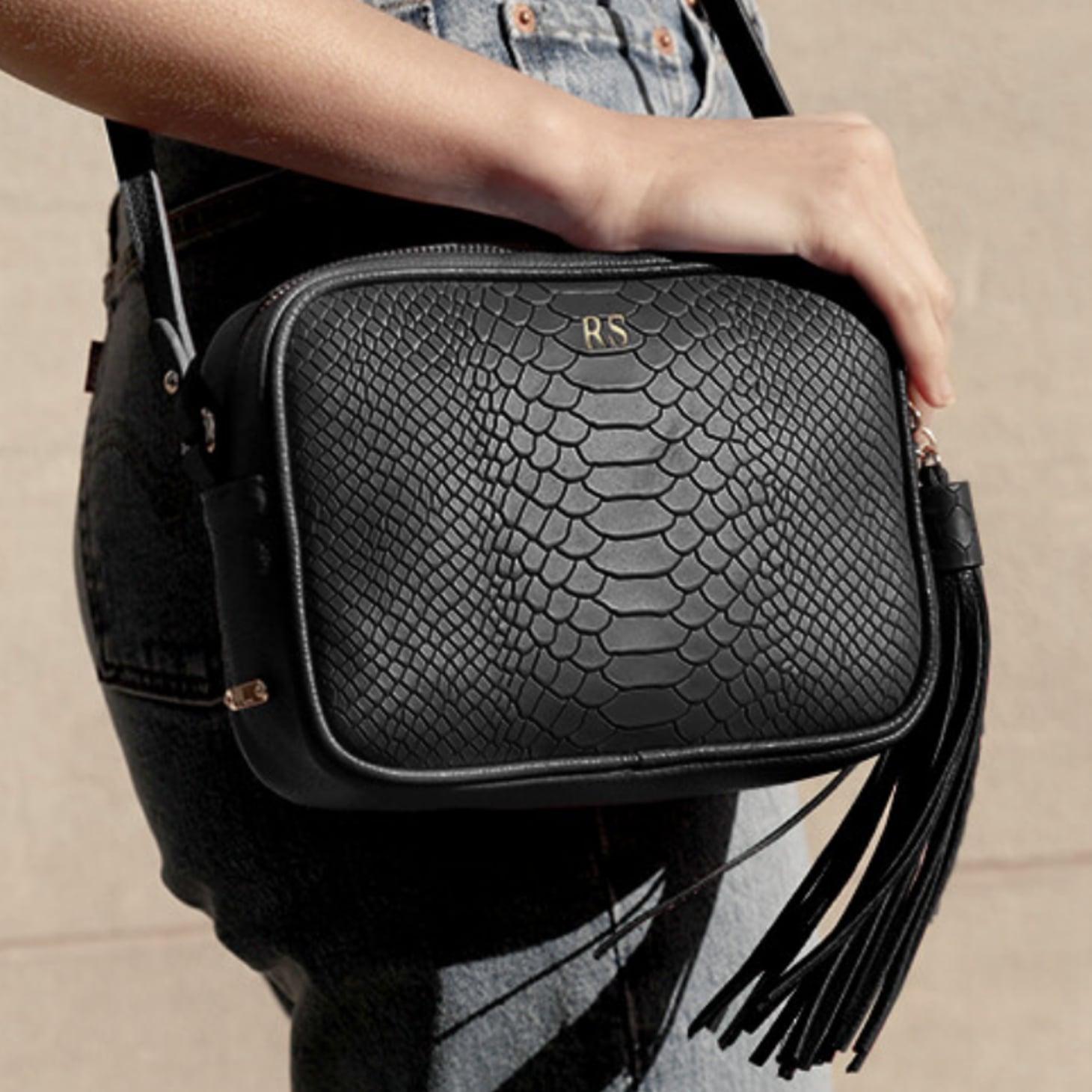 Personalized Purse Monogrammed Travel Bag Large Handbag Monogrammed Purse Vegan Leather