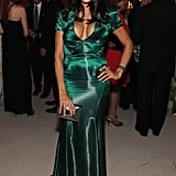 Rosario Dawson was gorgeous in green at the White House Correspondant's Dinner.