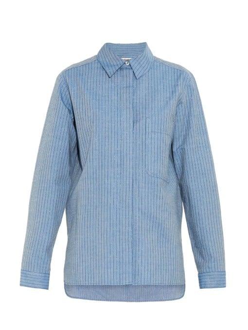 See by Chloé Lurex-Stripe Cotton-Blend Shirt ($270)