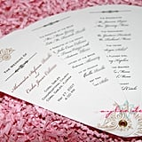Fan Wedding Program