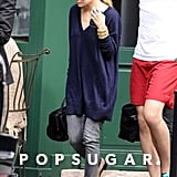 Ashley Olsen went out to an early dinner in NYC with sister Mary-Kate Olsen.