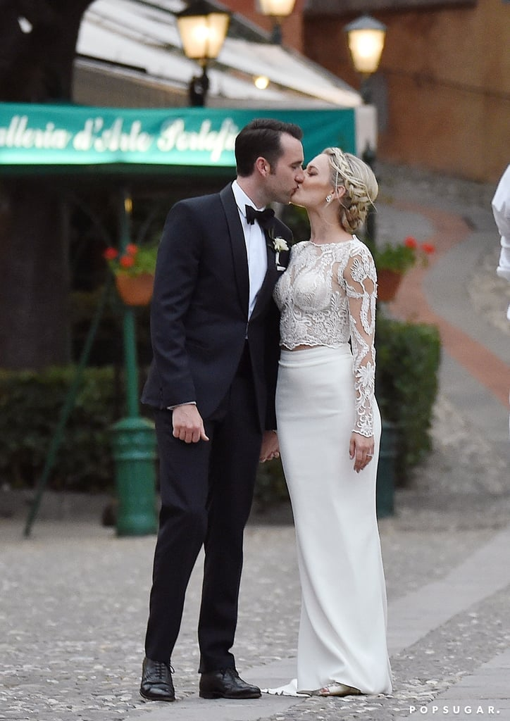 "Sorry, guys, but Matthew Lewis is officially off the market! The Harry Potter alum tied the knot with his longtime love, Angela Jones, in a romantic ceremony in Portofino, Italy, on Memorial Day. The affair brought out the couple's nearest and dearest, and judging from the photos, it looked like a whole lot of fun. Not only did Angela look absolutely beautiful in a white lace gown, but Matthew also looked pretty dapper himself in a black suit and matching bow tie. Following the outdoor ceremony, Matthew and Angela bid their guests farewell as they sailed away in a boat that had a ""Just Married"" banner hanging over it.  Matthew and Angela first crossed paths at an event for The Wizarding World of Harry Potter in January 2016. Angela had been working as an event planner at Orlando's Universal Studios at the time and her ""whole world got turned upside down"" when she met Matthew. The pair got engaged in November 2016, and they have been going strong ever since. Congrats to the newlyweds!       Related:                                                                                                           The Ultimate Celebrity Wedding Gallery"