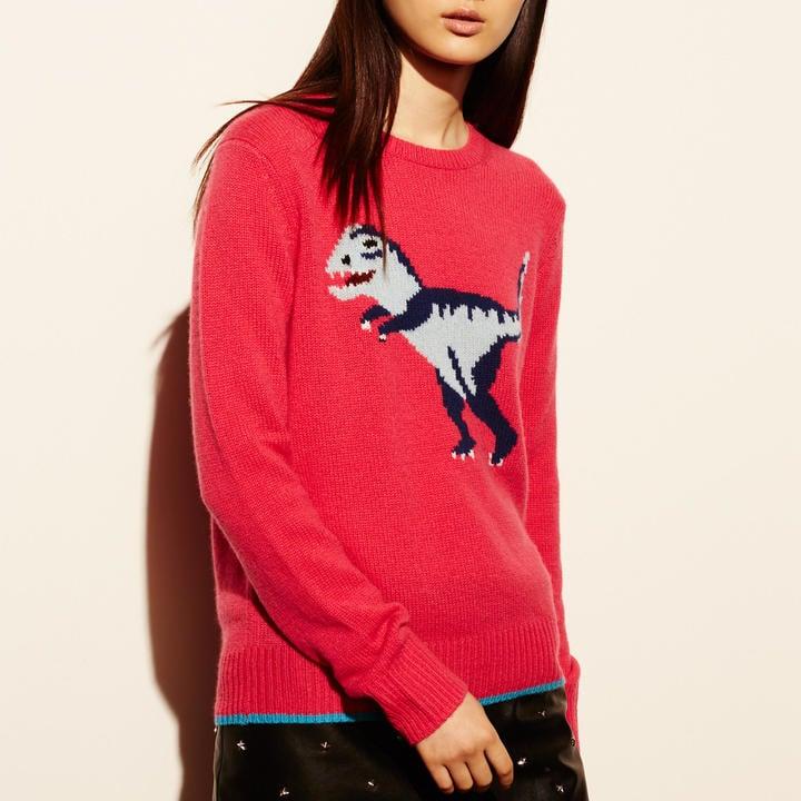Coach T-Rex Intarsia Sweater ($695)