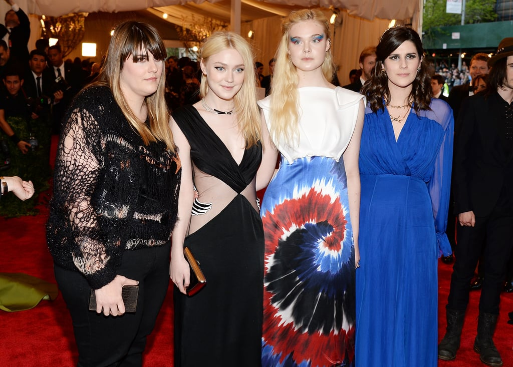 Dakota and Elle Fanning got together with Kate and Laura Mulleavy.