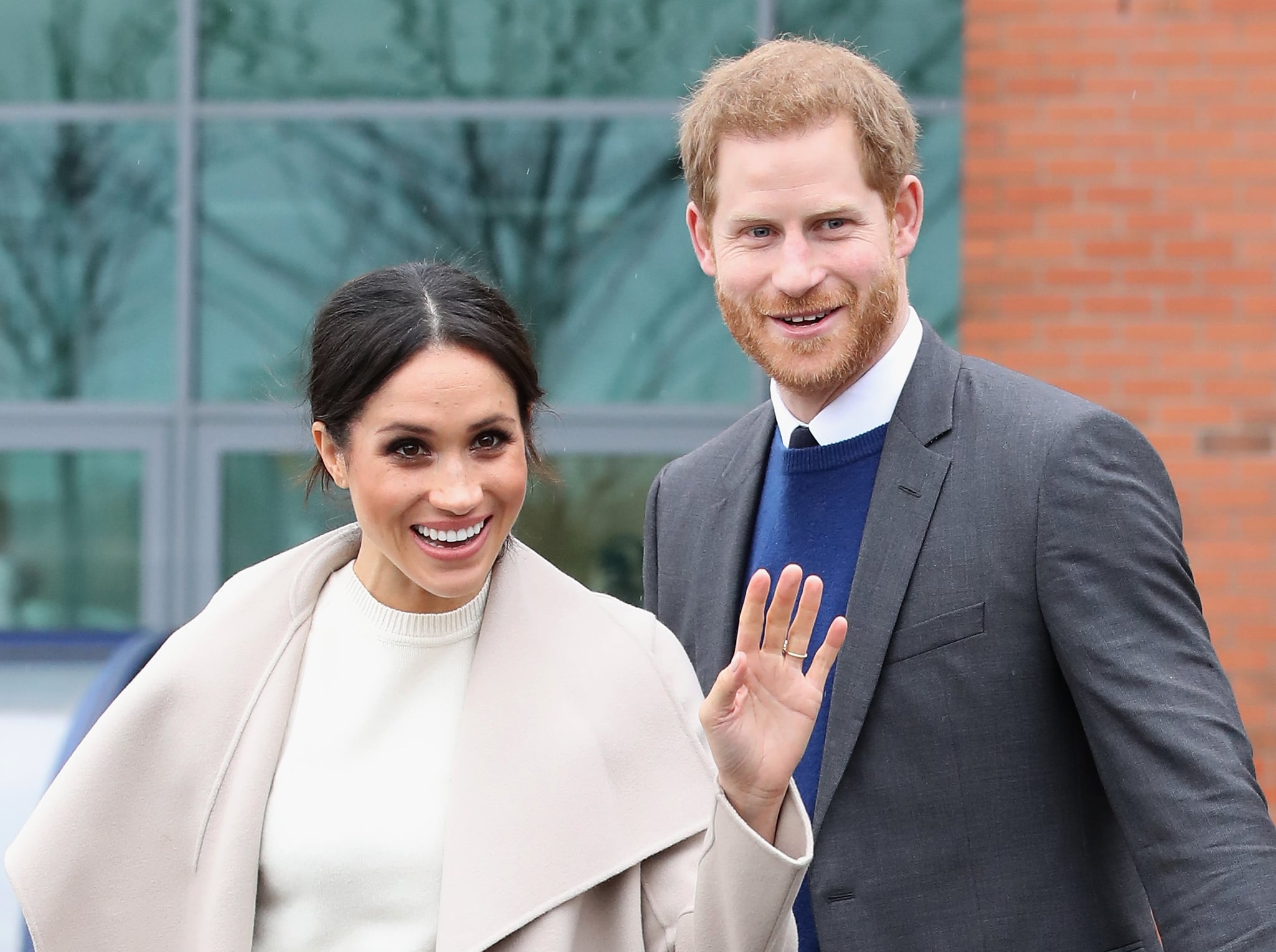 BELFAST, NORTHERN IRELAND - MARCH 23:  Prince Harry and Meghan Markle depart from Catalyst Inc, Northern Ireland?s next generation science park on March 23, 2018 in Belfast, Nothern Ireland.  (Photo by Chris Jackson - Pool/Getty Images)