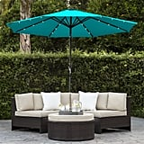 Solar Powered LED Lighted Patio Umbrella With Tilt Adjustment