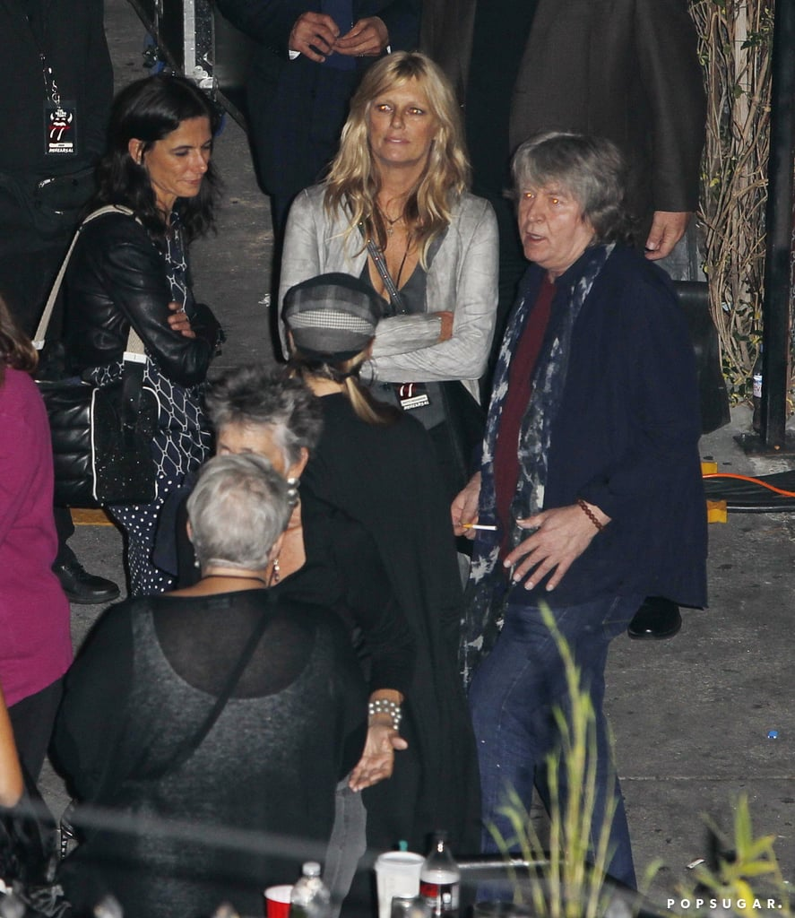 Patti Hansen waited for husband Keith Richards.