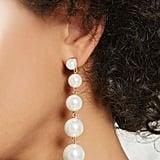 Forever 21 Faux Pearl Drop Earrings