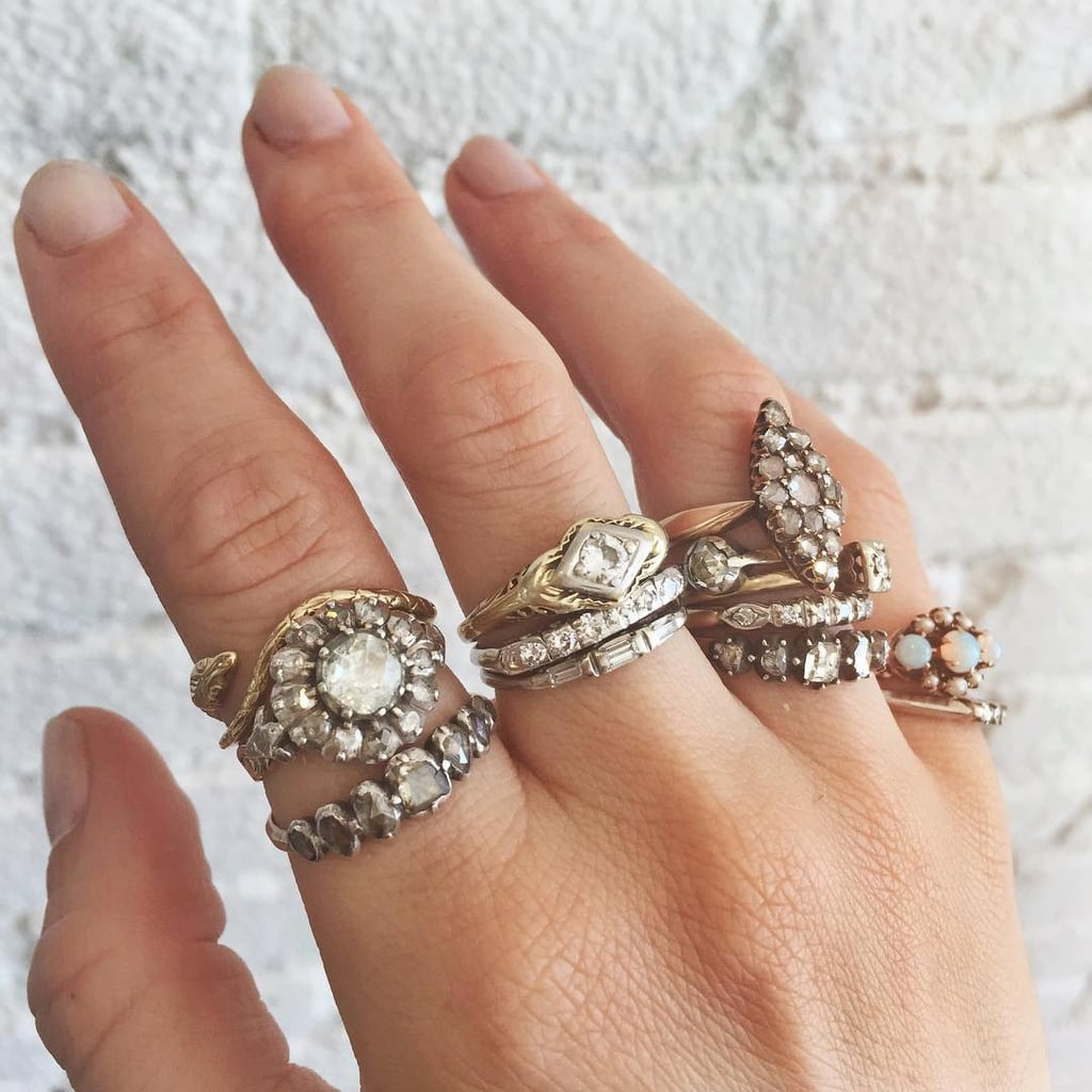 antique and vintage engagement ring ideas | popsugar fashion