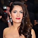 Salma Hayek's Side-Swept Waves